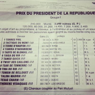 Prix du Président de la République - Tango Quick